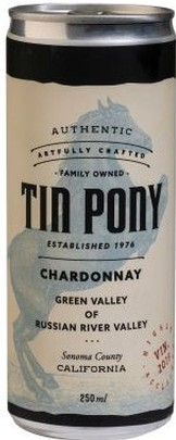 2019 Tin Pony Chardonnay 4 pack cans
